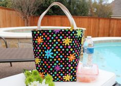 Polka Dot Lover Tote  shopping tote  lunch bag  by DeliBejeweled, $15.99.  These are so cute!!