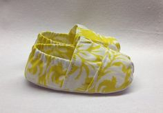 Handmade Baby Shoes Toms Style in a Lemon Floral by Scarlettos, $25.00