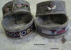 Wollfilz-Armband- AUSWAHL - + Anhänger  von Kreawusel-Schmuck  auf DaWanda.com
