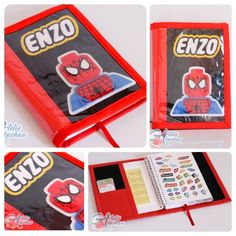 O Spider man veio para salvar a capa da Agenda Escolar  #atelieakachan #spiderman #lego #spidermanlego #felt #feltro #handmade #artesanato #feitoamao #amorpelacostura by atelie_akachan