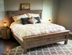 Farmhouse King Size Bed