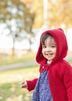 Wee Melia just like Little Red Riding Hood :)