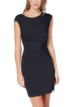 Loving this cute black dress! Can be worn to work or any important event. #justfabapparel
