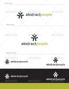 Abstract People Logo Design - ABS-019 by equipo3 Abstract and creative logo design. Full Vector Logo Design Graphics Files Included: 1- logo.eps 2- logo.pdf 3- logo.ai 4- abstr