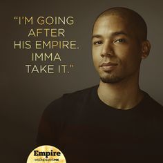 On the smash drama 'Empire' Jussie Smollett plays Jamal Lyons, a gay R&B singer who has struggled all his life with his homo-hating father. It's one of the show's most dramatic plot lines — Serie Empire, Empire Cast, Empire Fox, Best Tv Shows, Favorite Tv Shows, Movies And Tv Shows, Empire Quotes, Empire Cookie, Bae