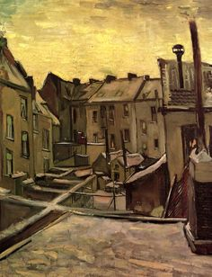 Vincent van Gogh, Backyards of Old Houses in Antwerp in the Snow, 1885.