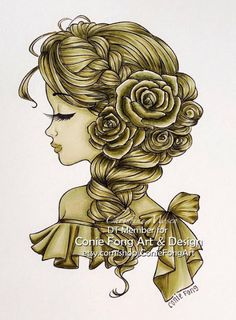 Im designer at Conie Fong Art and Design . She make so many lovely digi stamp. Thought I would share my DT colouring with this lov. Bella Rose, Color Effect, 30 Day, Copic, Namaste, Markers, Coloring, Challenges, Stamp
