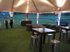 Events with a view. The 2014 @Four Seasons Resort and Club Dallas at Las Colinas Golf School on the Event Lawn at dusk.     BRB Events