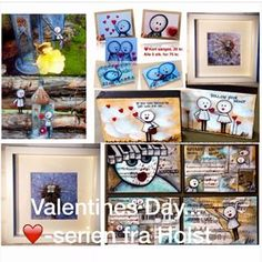 """""""FEBRUAR I FARVER dag 9"""" www.facebook.com/HolstKunst #februarifarver2016 #valentinesday #heart #hjerte #givgaver #art #kunst #HolstKunst"""