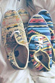 LOVE aztec bold print and colors keds! <3