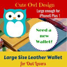 Unique Leather Large Size Owl Wallet • Owl Delights