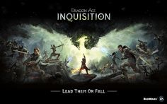 """This is a design for the game """"Dragon age- Inquisition"""" i really like how the light breaking the shadow forms a rising dragon & how the rest of the design is a battlefield that incorporates most of the main characters from the game."""