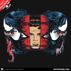 Spiders and Symbiotes T-Shirt - Spider-Man T-Shirt is $13 today at Ript!