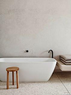 Mooie muur en kleur. Precies het bad dat ik zoek. Maar aan de (te) kleine kant? Leeton Pointon Architects via © ebonybizart