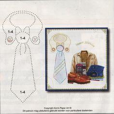 Stropdas Patroon: Ann's paperart