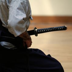 Iaido 居合道 - modern Japanese martial art associated with the smooth, controlled movements of drawing the sword from its scabbard, striking or cutting an opponent, removing blood from the blade, and then replacing the sword in the scabbard.