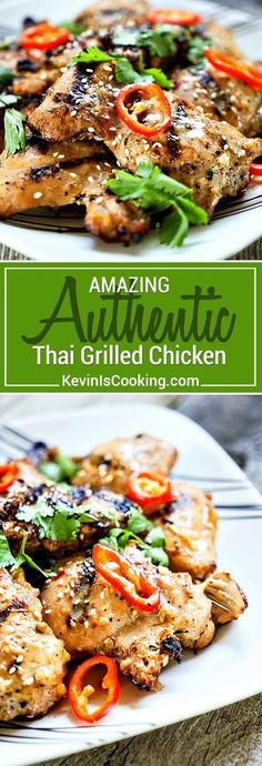 Tasty, authentic Thai street food anyone? This Amazing Thai Grilled Chicken delivers BIG time on flavor using freshlemongrass and fish sauce in the marinade. via @keviniscooking
