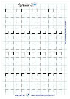 Preschool Writing, Preschool Education, Bullet Journal Hand Lettering, Pattern Worksheet, Graph Paper Art, Pre Writing, Home Schooling, Worksheets, Activities For Kids