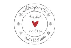 24 persönliche Aufkleber ''Selbstgemacht'' Sticker von Lottes Laden auf DaWanda.com