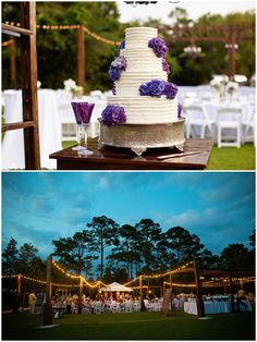 30a Wedding Co. / Kate and Will: A Seaside/ Watercolor Wedding- just the outside lighting