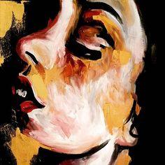 New piece  #gold #black #art #artist #artwork #abstract #painting #portrait #paletteknife #acrylicpainting #acrylic #paletteknifepainting #creative