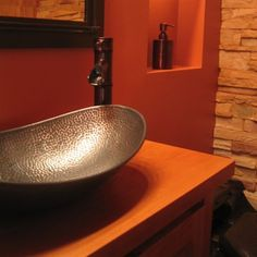 Eden Bath EB_C006AD Copper Canoe Shaped Vessel Sink