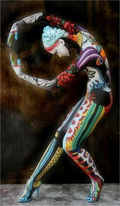 colorful body art. Bella Beauty College: Be Bold, Brilliant, Beautiful!