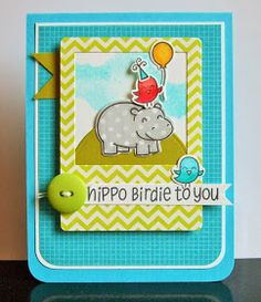 The Queen's Scene: Hippo Birdie to YOU - {SSSC232/CMCC33/STB} #lawnfawn