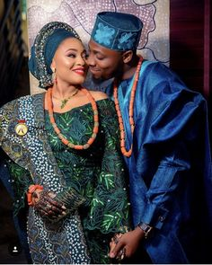 African Style, African Beauty, African Fashion, African Clothes, African Dress, Blue Wedding, Dream Wedding, Couples African Outfits, Traditional Wedding Attire