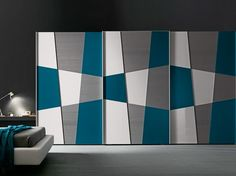 Sectional lacquered with sliding doors SHAPE by Presotto Industrie Mobili Sliding Wardrobe Designs, Wardrobe Interior Design, Bedroom Door Design, Bedroom Cupboard Designs, Sliding Wardrobe Doors, Wardrobe Design Bedroom, Bedroom Furniture Design, Home Design, Wardrobe Laminate Design
