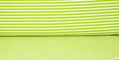 Jersey Streifen / gestreift Hellgrün - Weiß von HexenherzStoffe auf Etsy