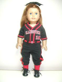 Custom Detailed 18 Doll Softball Baseball by SewWowSewNow on Etsy