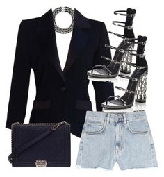 """Untitled #4620"" by amm-xo ❤ liked on Polyvore featuring Yves Saint Laurent, M.i.h Jeans, Giuseppe Zanotti and Chanel"