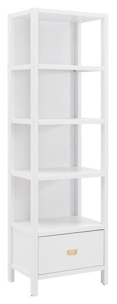 Paige Bookcase, White