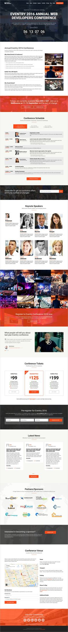BeEvent - Conference \ Event HTML Template - conference schedule template