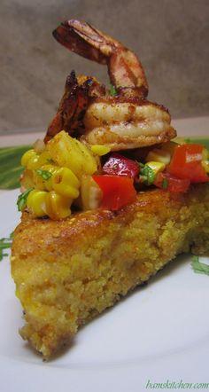 Moist Cornbread, Jalapeno Cornbread, Gluten Free Cornbread, Wheat Free Recipes, Creole Recipes, Seafood Dinner, Shrimp Recipes, Cajun Shrimp, Yummy Food