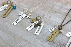 NEW handwritten charms from Initial Outfitters $12