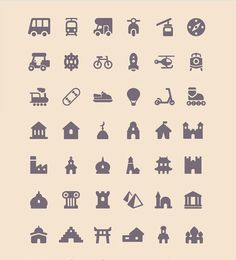 11 Icon Sets That You Can Use In Travel Website | Bashooka | Web & Graphic Design