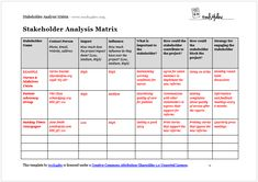 A Stakeholder Analysis lets you define who has a vested curiosity in how a course of performs. Keep in mind that stakeholders don't obtain the product or serv Stakeholder Mapping, Stakeholder Analysis, Stakeholder Management, Business Analyst, Business Education, Thinking Skills, Critical Thinking, Project Management Professional, Process Improvement
