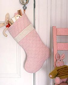 Quilted Stocking--pattern for my mom-in-law.  Could be done in light blue, white, and silver....  Also could be personalized.