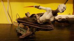 "Hasbro Star Wars Unleashed 7"" Inch Statue Figure ASAJJ VENTRESS 2005"