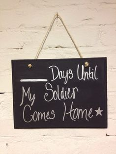 Create a countdown sign. I 18 Great Pre-Deployment Gifts For Military Families