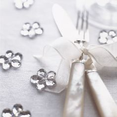 Silver Scatter Flowers