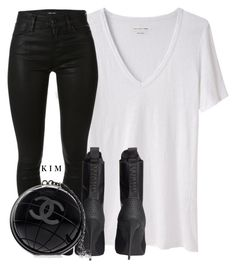 """""""Untitled #612"""" by kimberlythestylist ❤ liked on Polyvore featuring Étoile Isabel Marant, J Brand, H&M and Chanel"""