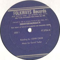 John Cage / David Tudor - Indeterminacy: New Aspect Of Form In Instrumental And Electronic Music at Discogs