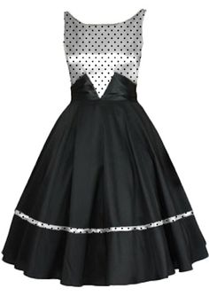 1950s Inspired Satin Sash Dress by Amber Middaugh #Retro #Rockabilly #1950 #Vintage