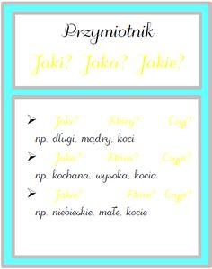 Plansze część 2 Polish Language, Autumn Activities, Grammar, Hand Lettering, Back To School, Homeschool, Bullet Journal, Education, Blog