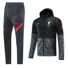 Liverpool 21/22 Black-Gray Hoodie Men Windbreaker Suit – zorrojersey Fc Liverpool, Grey Hoodie, Black And Grey, Gray, Nike Jacket, Motorcycle Jacket, Windbreaker, Soccer, 21st