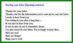 Начать письмо на английском надо одним из этих предложений