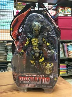 "Predators 2 Battle Armor Lost Predator Wasp Predator PVC Action Figure Collectible Model Toy 7"" 18cm hwd 80's"